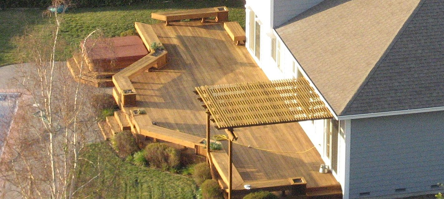 Backyard custom deck contractor houston tx