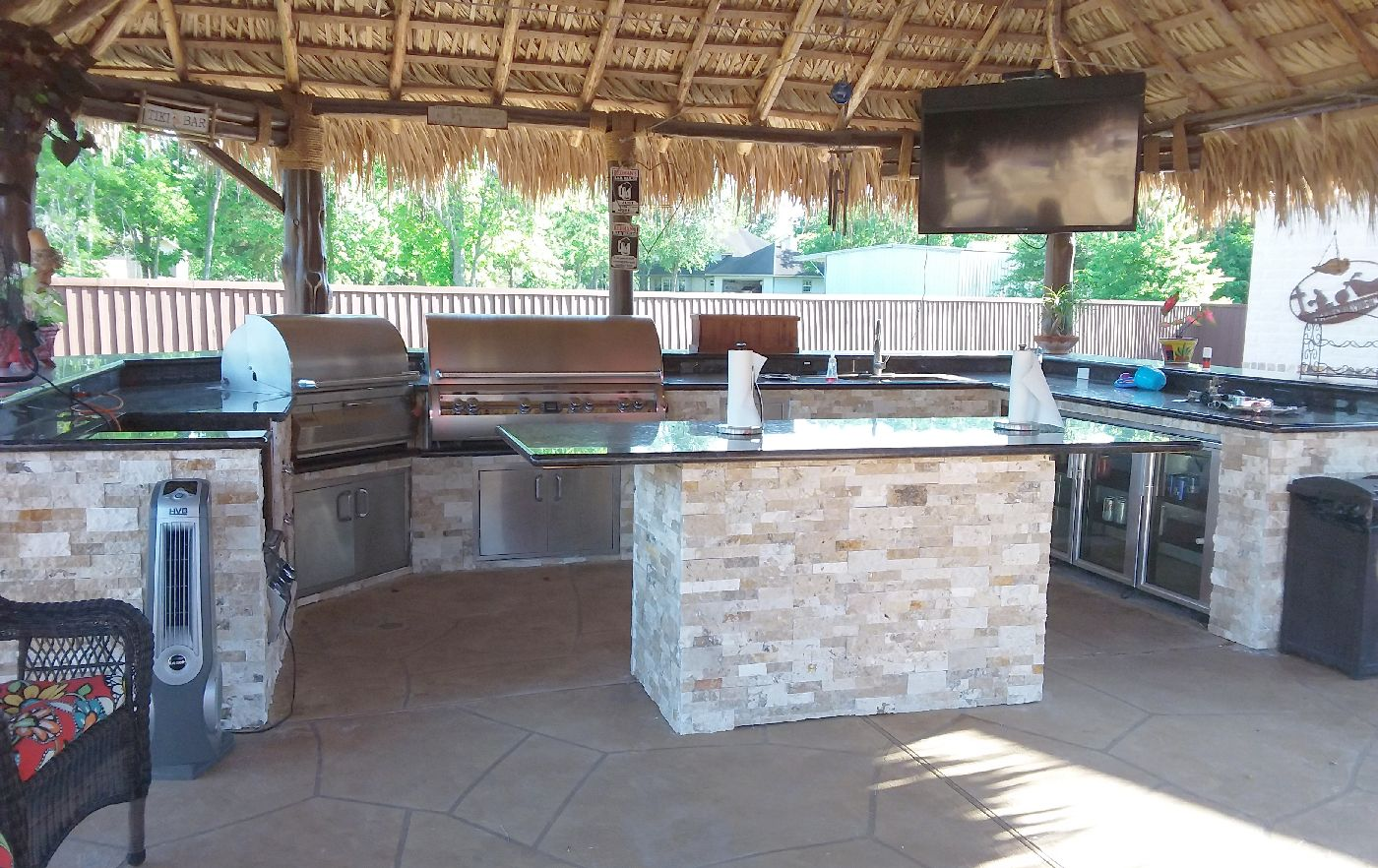 backyard kitchen grill houston