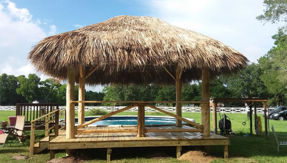 commercial palapas custom tiki huts Houston Texas