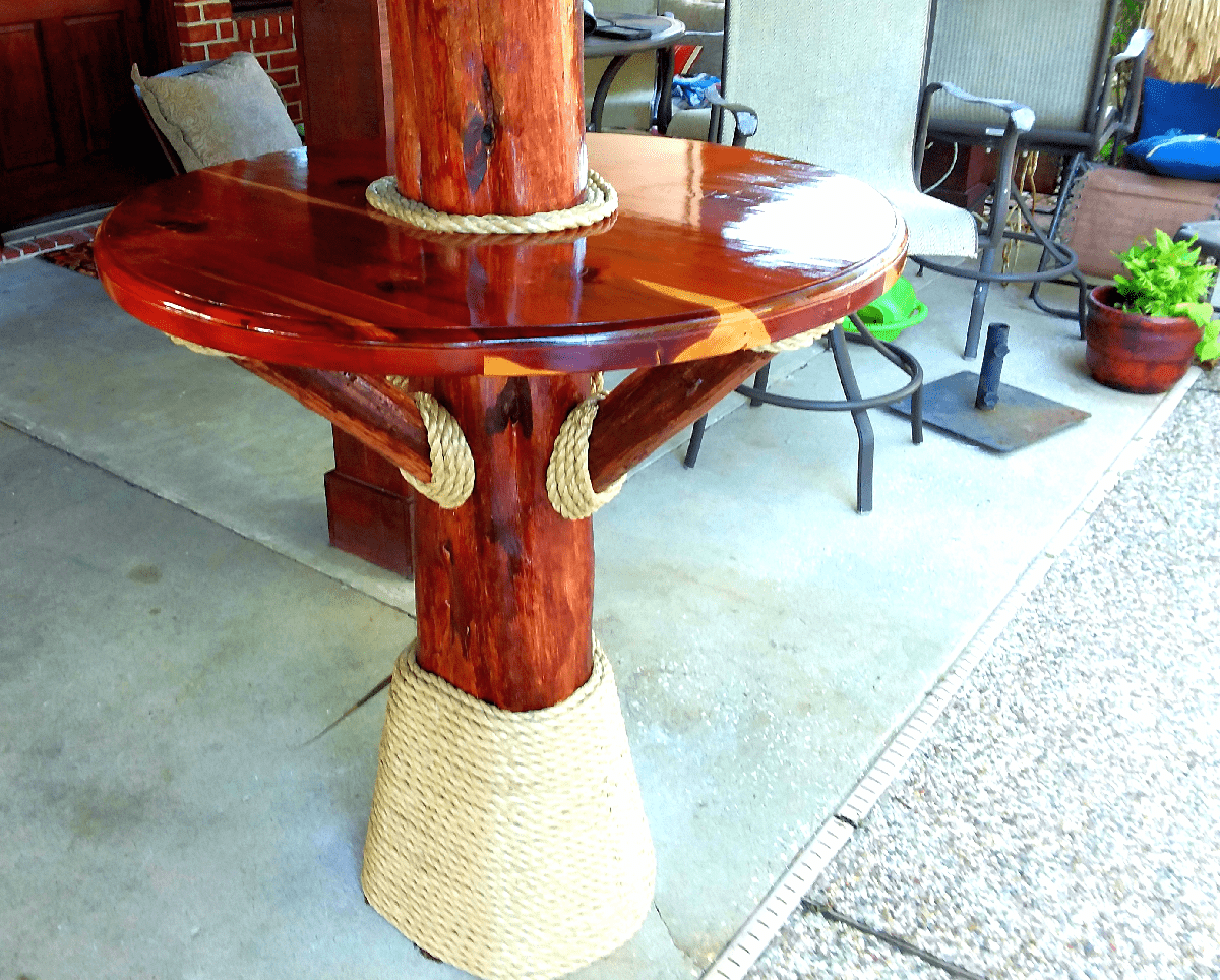 custom outdoor cedar furniture