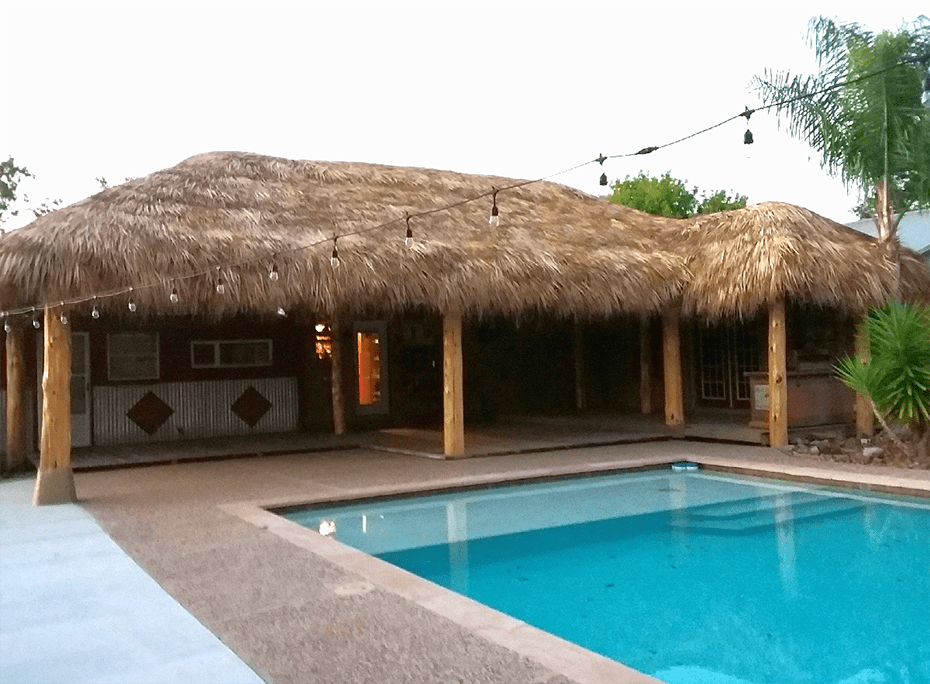 pool palapa outdoor kitchen