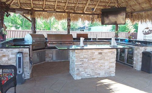 backyard custom kitchen grill houston texas