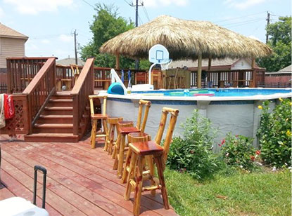 custom decks palapas houston texas