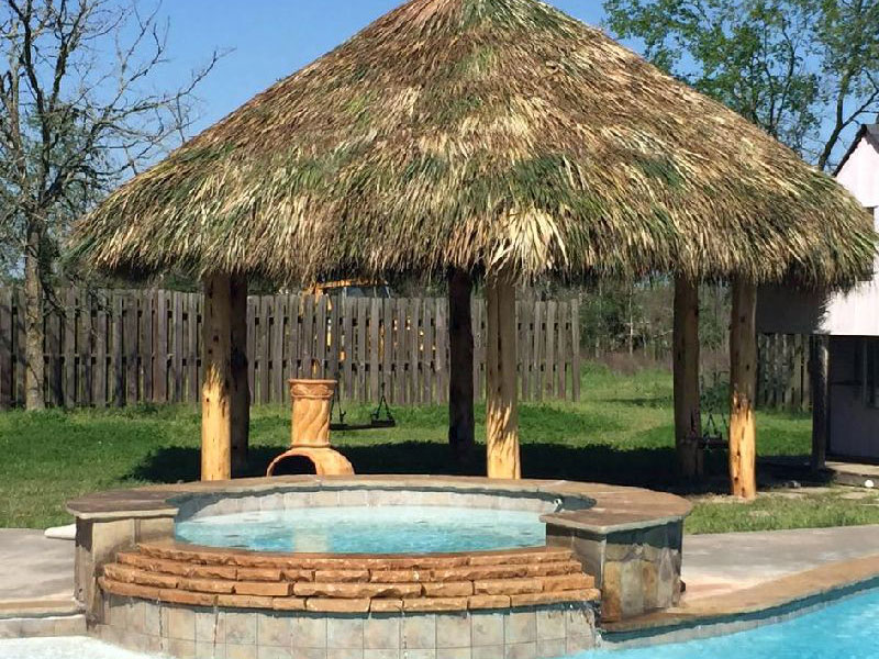 pool hot tub palapa