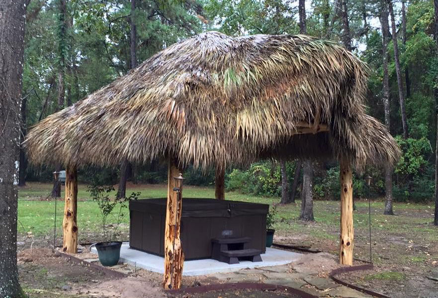 hot tub palapa installation