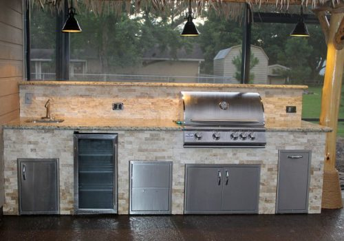 custom outdoor kitchens houston price